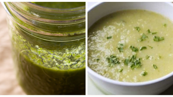 Herb-Flecked Leek & Potato Soup
