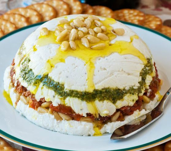 Tri-Color Cheese Stack