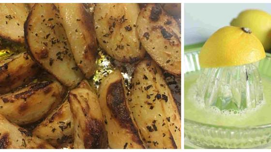 Lemon & Herb Potato Wedges