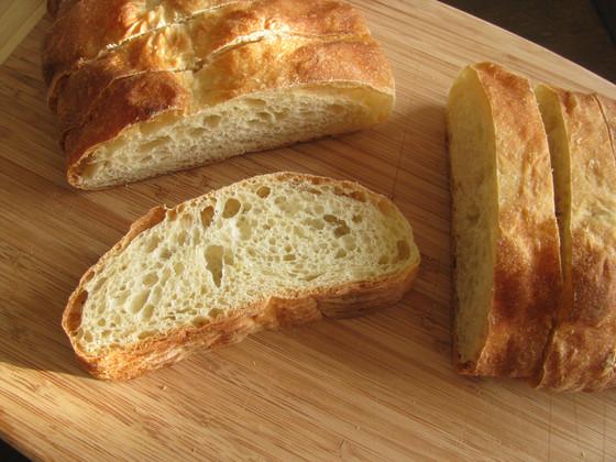 No Knead Crusty Italian Bread