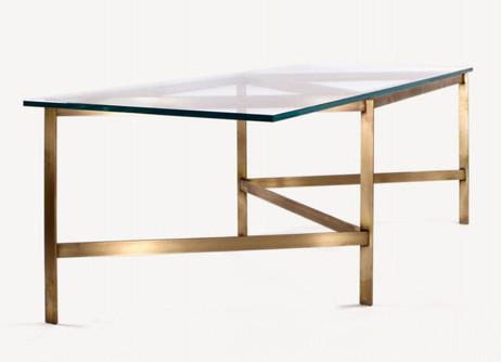 BASSAM FELLOWS Plank Glass Dining Table