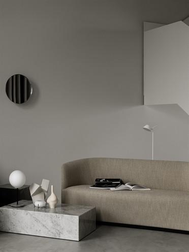 MENU Tearoom Sofa Plinth Bulb Table