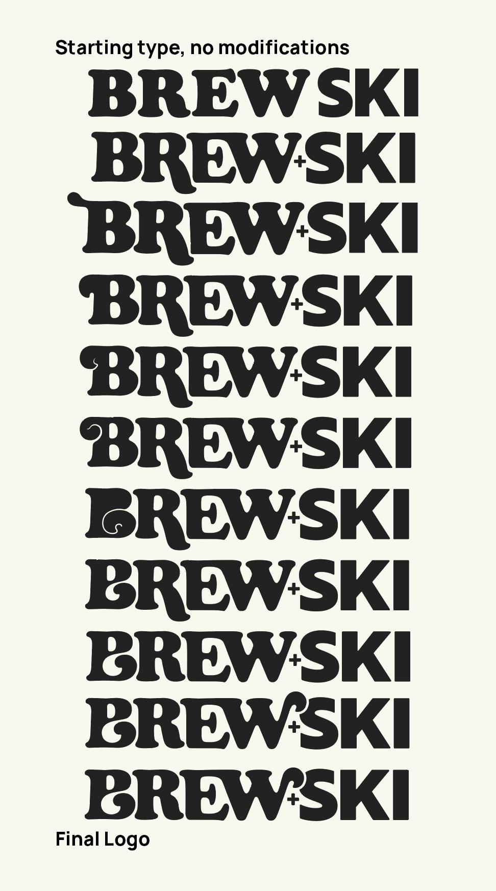 Image of logo process for BREWSKI