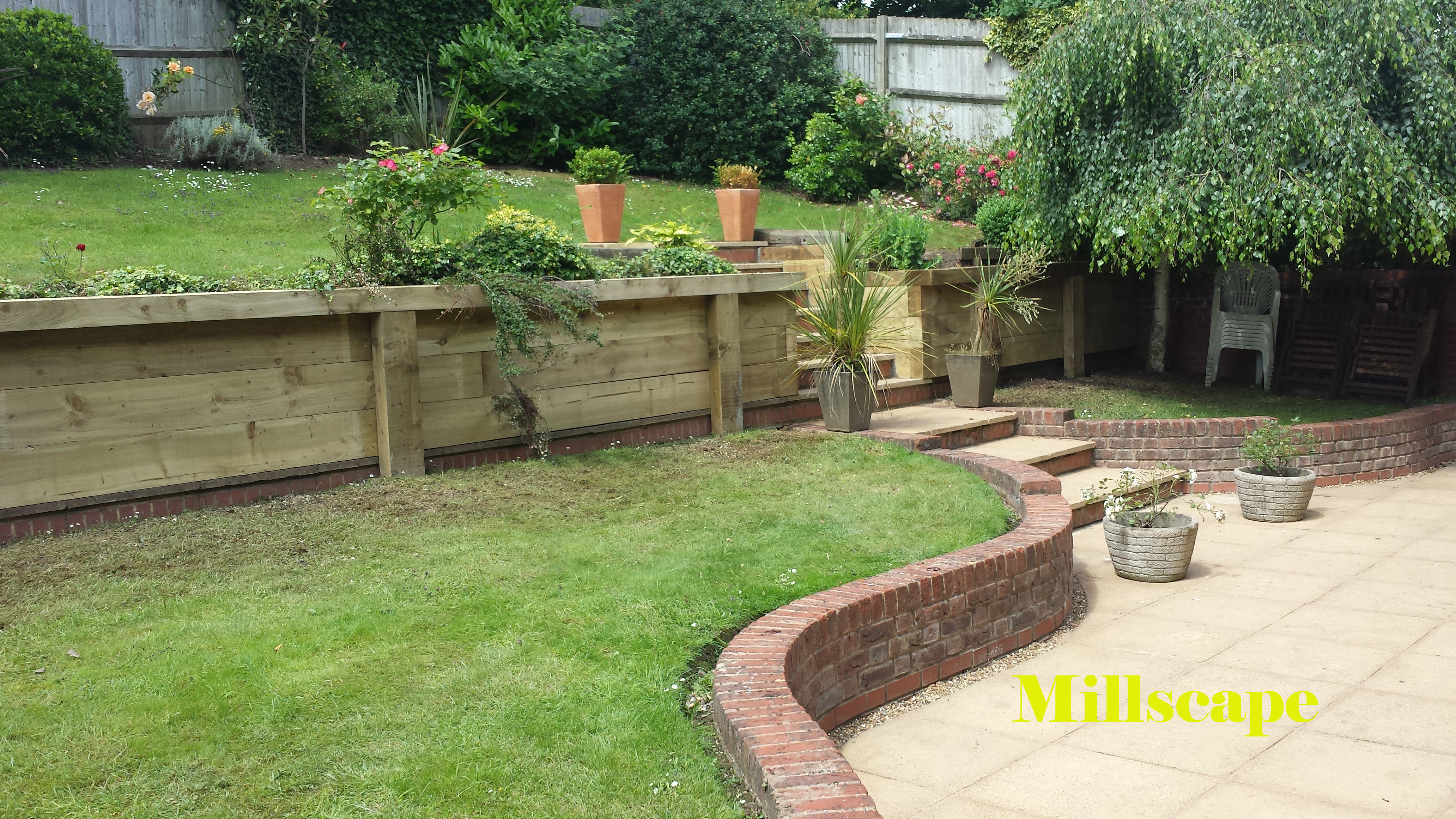 Landscaping paving walling