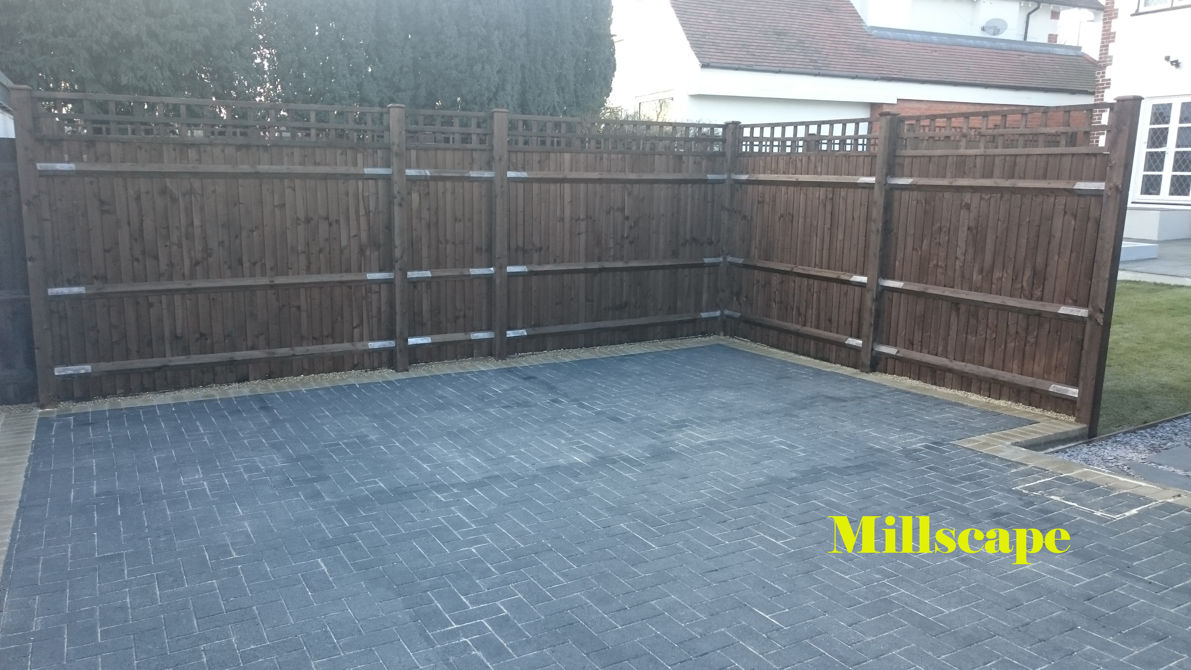 landscaping driveway mill hill