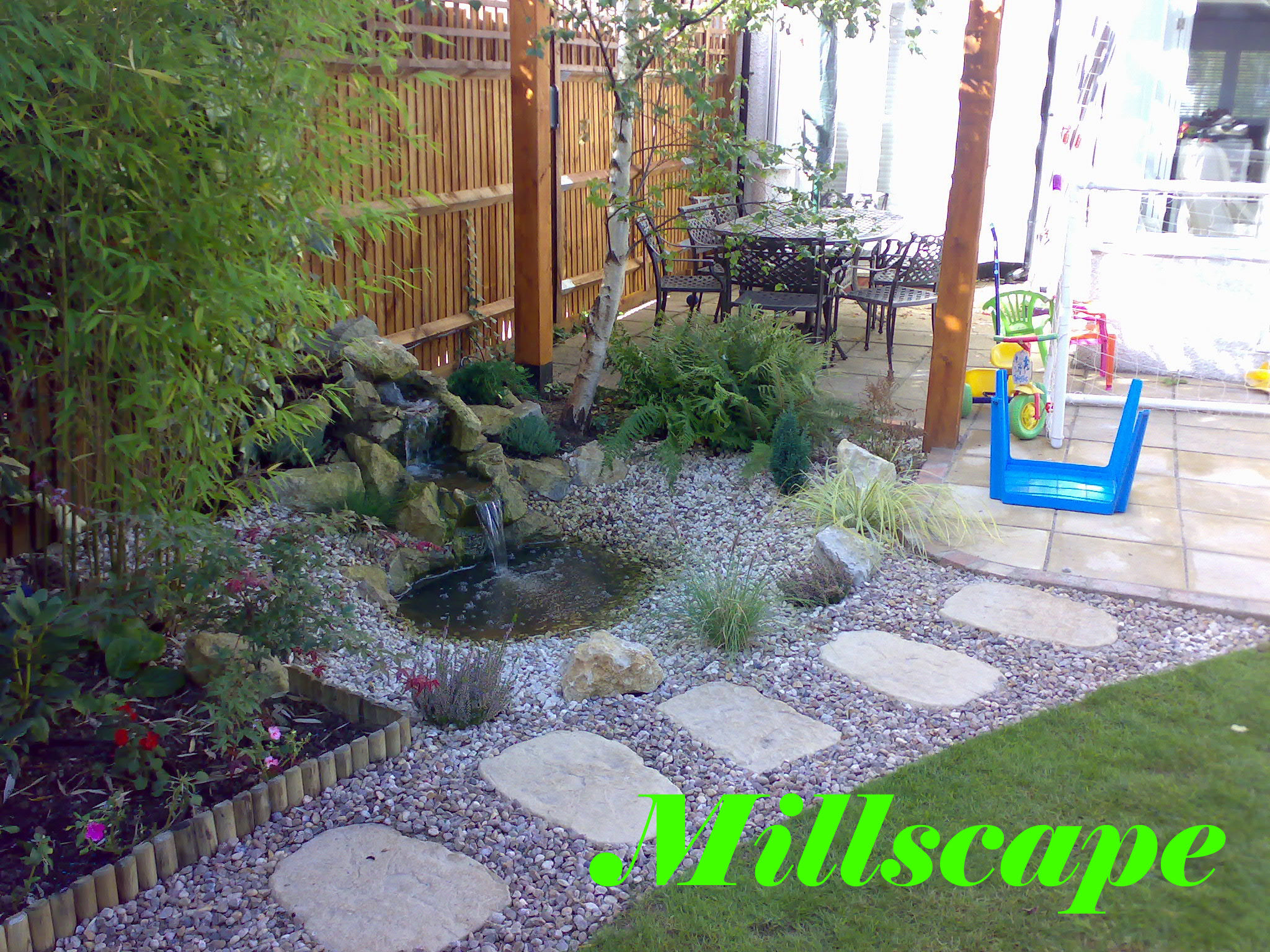 water features, design, landscaping