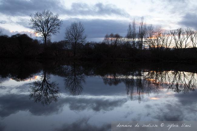Het meer van Soulisse in de winter
