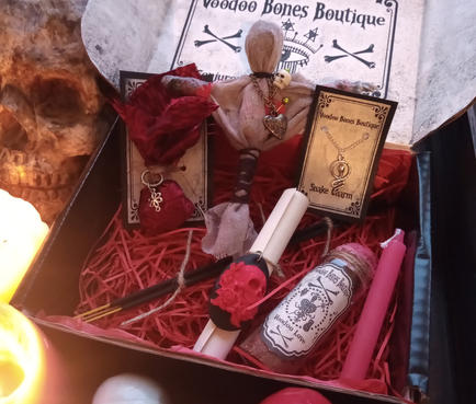 Voodoo Gift Box with Voodoo Doll