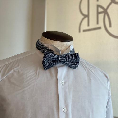Linen cotton bowtie/Blue