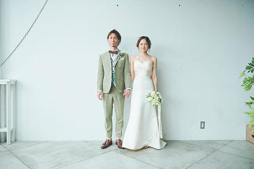 Linen Suit × enamel. gilet
