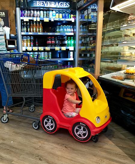 Cecelia living it up in Shop Rite, Wallington Photo Credit: Nicole Boglivi