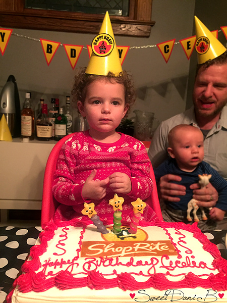 All business while placing her candles in the cake…