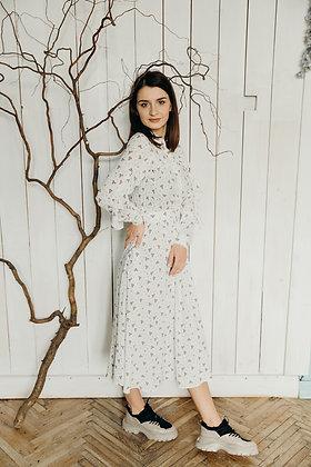 Сукня біла в квіточки