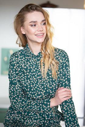 Сукня зелена в квіти