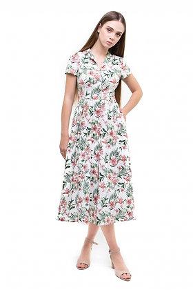 Сукня міді, бавовна листя