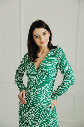 Сукня в зелені листочки