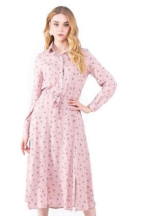 Сукня міді рожева