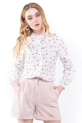 Сорочка біла в квіти