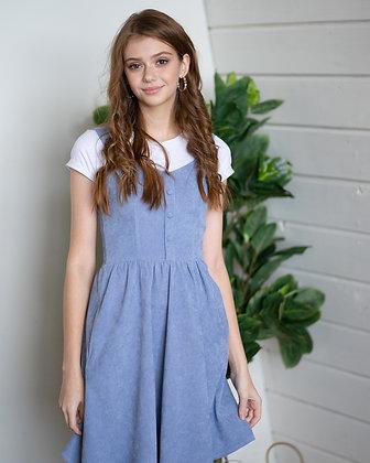 Сукня голуба вельвет
