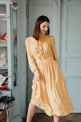 Сукня жовта в горох