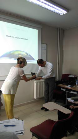 Mr. Kuwabara receiving his plaque