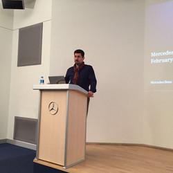 Vortrag zu den Mercedes Aktivitäten