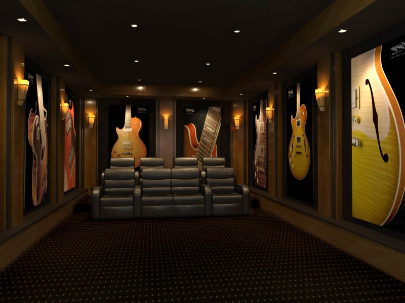 guitar-theme-home-theater