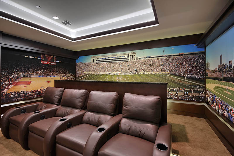 chicago-sports-theme-home-theater