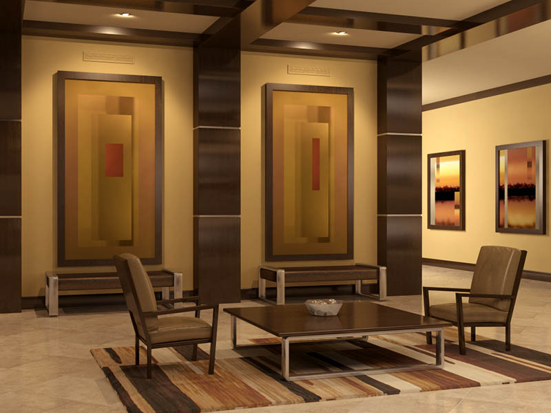 Hotel Lobby Acoustic Panels