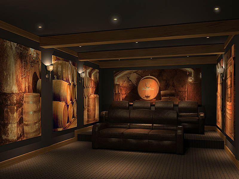 wine-barrel-theme-home-theater