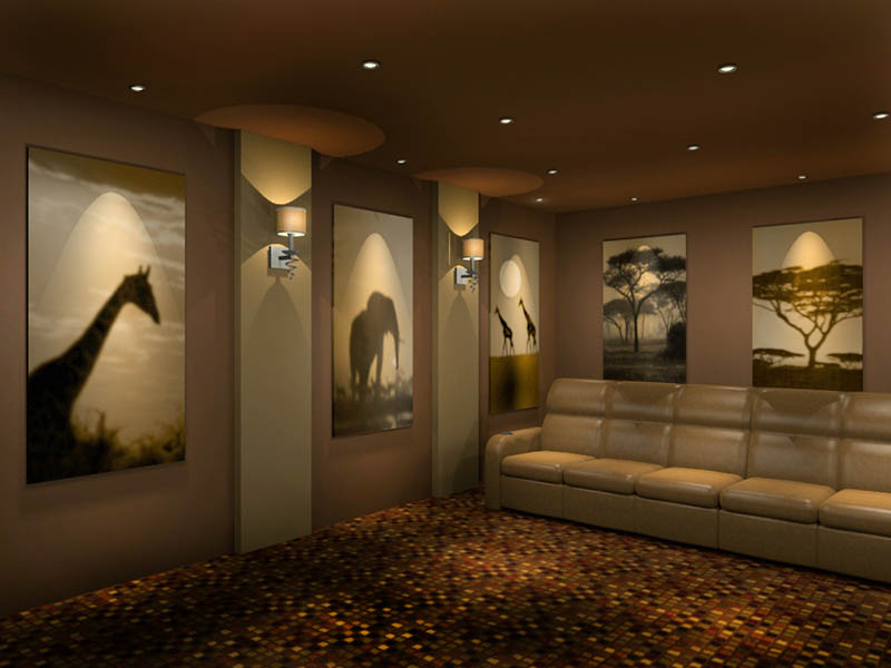 animal-theme-home-theater