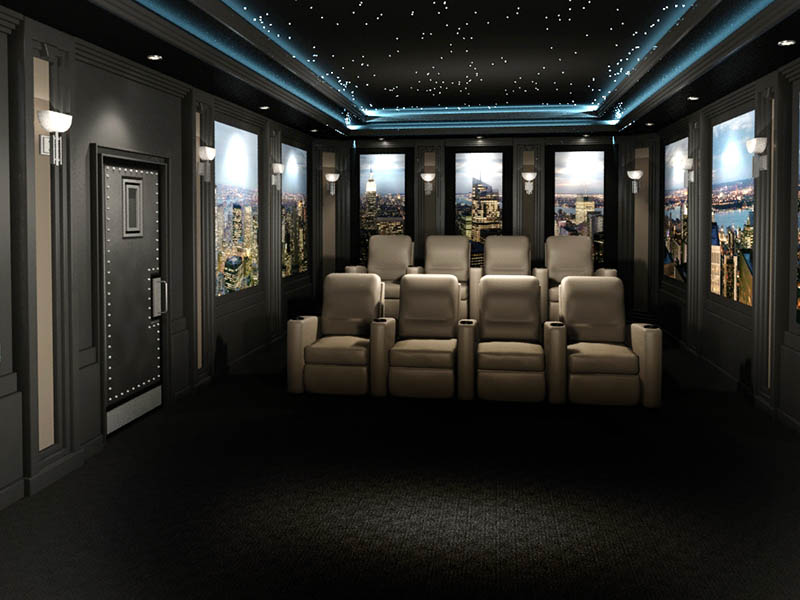 Art Deco Styled Home Theater