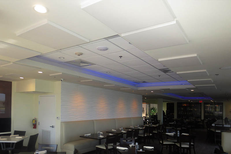 Ceiling Panels In Restaurant