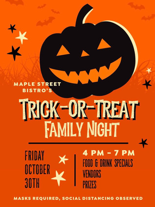 Trick or Treat Family Night