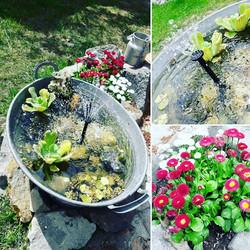 ⛲🤗 #campingplatzlandidyll🌿 _#minibrunnen #gartengestaltung #gartenideen #gartendeko #gartenglück #