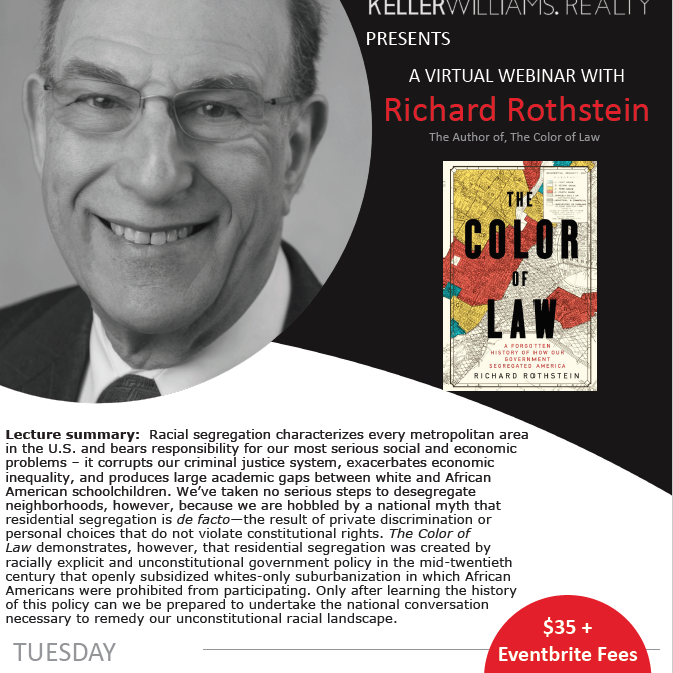 The Color of Law Webinar with Richard Rothstein