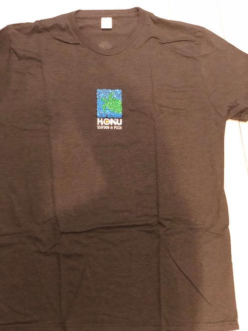 Honu Seafood & Pizza Men's Shirt/ Practice Aloha Maui on Back