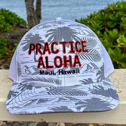 Men's Practice Aloha Snapback Tropical Hats from Maui