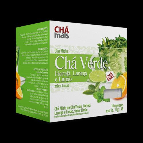 Chá de chá verde sachês chá mais