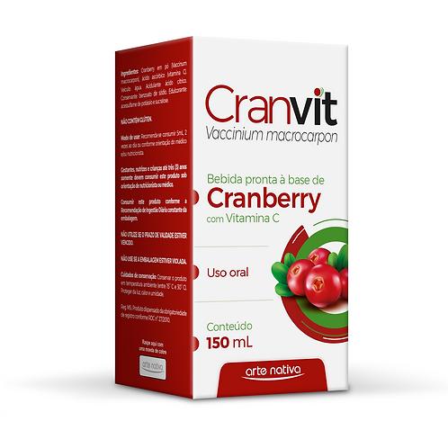 Suplemento de vitamina C sabor cranberry cranvit arte nativa