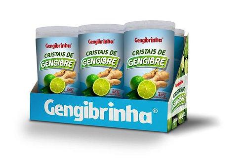 Cristais de gengibre Gengibrinha caixa com seis sabor limão