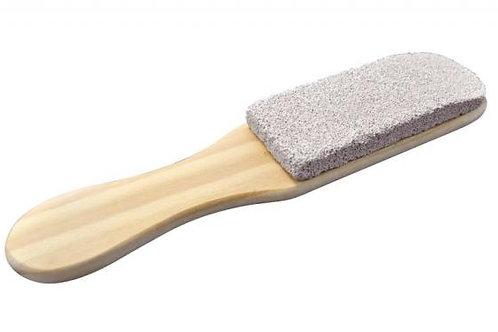 Lixa para pés de madeira com pedra pomes raskalo