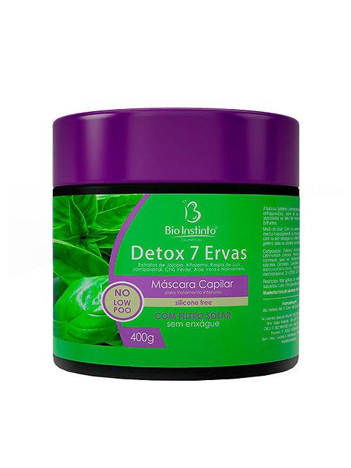 Máscara capilar detox 7 ervas bio instinto