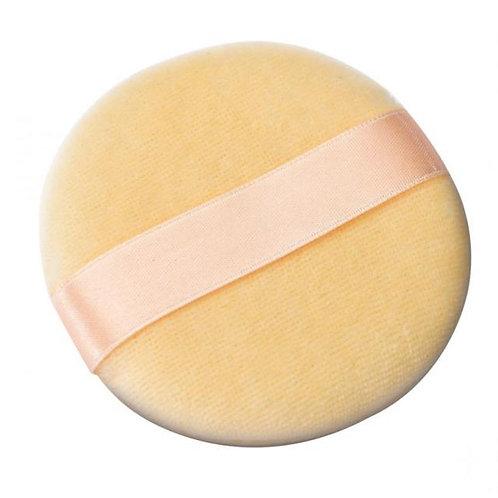 Esponja facial para maquiagem com fita de cetim raskalo