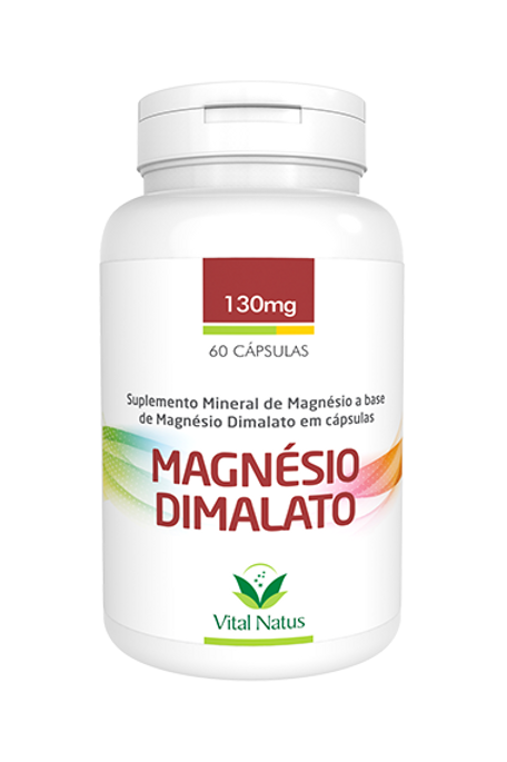 Dimalato de magnésio 130mg com 60cpr vital natus