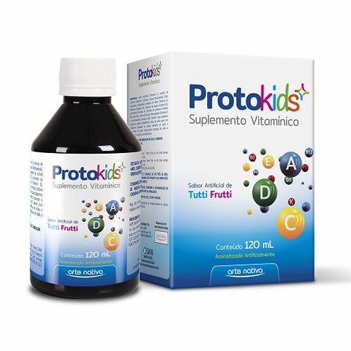 Suplemento vitamínico infantil xarope protokids sabor tutti-frutti arte nativa