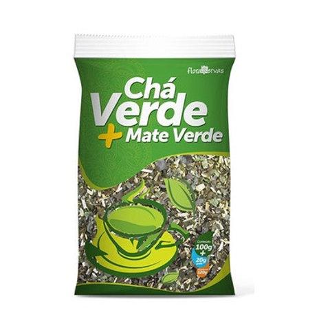 Chá verde mais mate verde 120 gramas flora 7 ervas