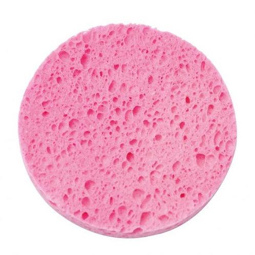 Esponja facial rosa de celulose redonda raskalo