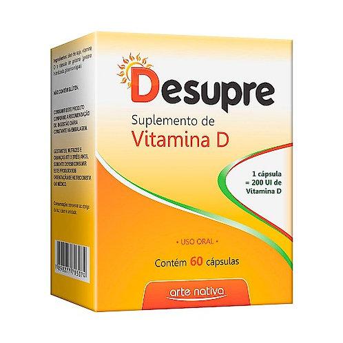 Suplemento de vitamina D desupre cápsulas sabor limão arte nativa