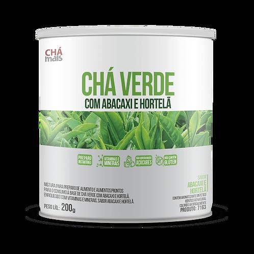 Chá solúvel lata zero açúcar- Sabor chá verde  chá mais